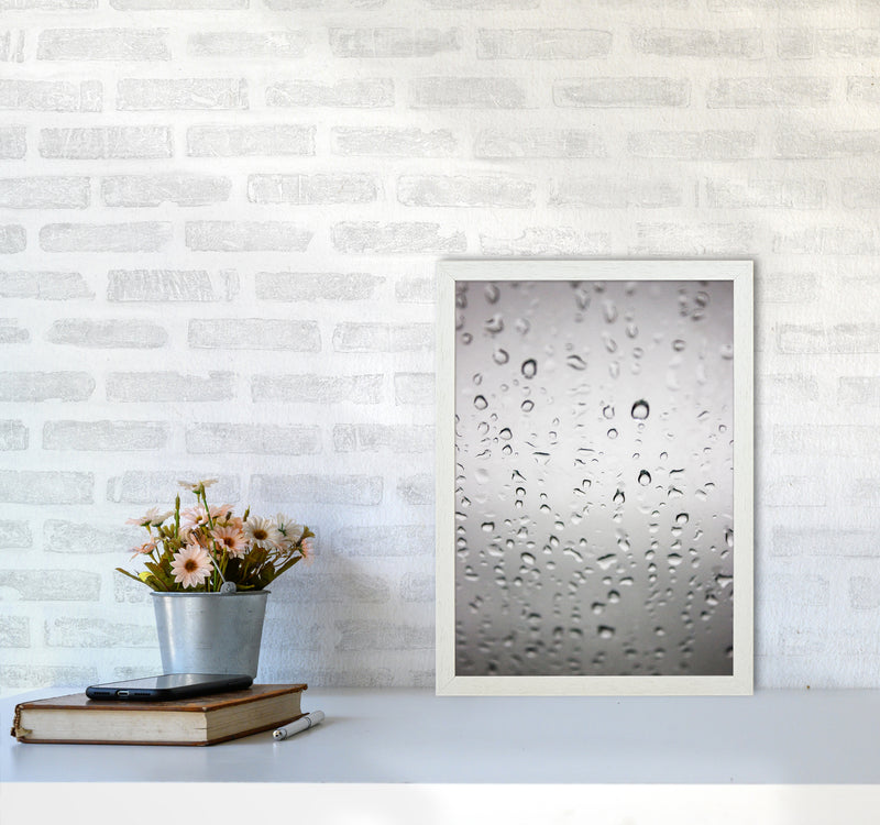 Touch of Rain Photography Print by Victoria Frost A3 Oak Frame