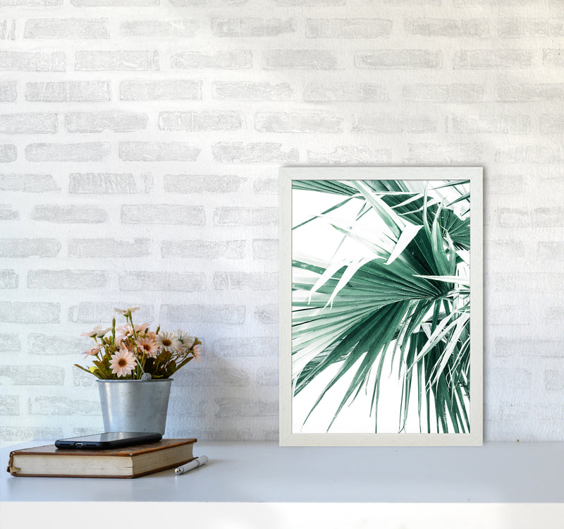 Palm Leaves Photography Print by Victoria Frost A3 Oak Frame