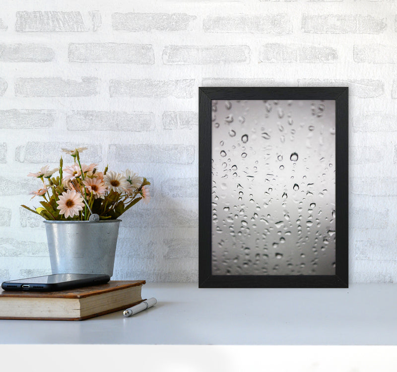 Touch of Rain Photography Print by Victoria Frost A4 White Frame