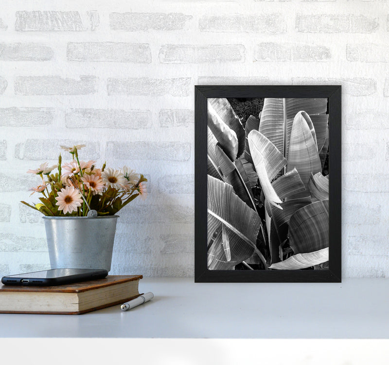 Palms Leafs Photography Print by Victoria Frost A4 White Frame