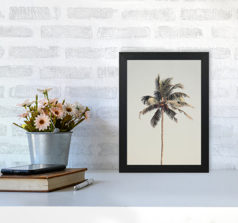 Palm tree by the beach Photography Print by Victoria Frost A4 White Frame