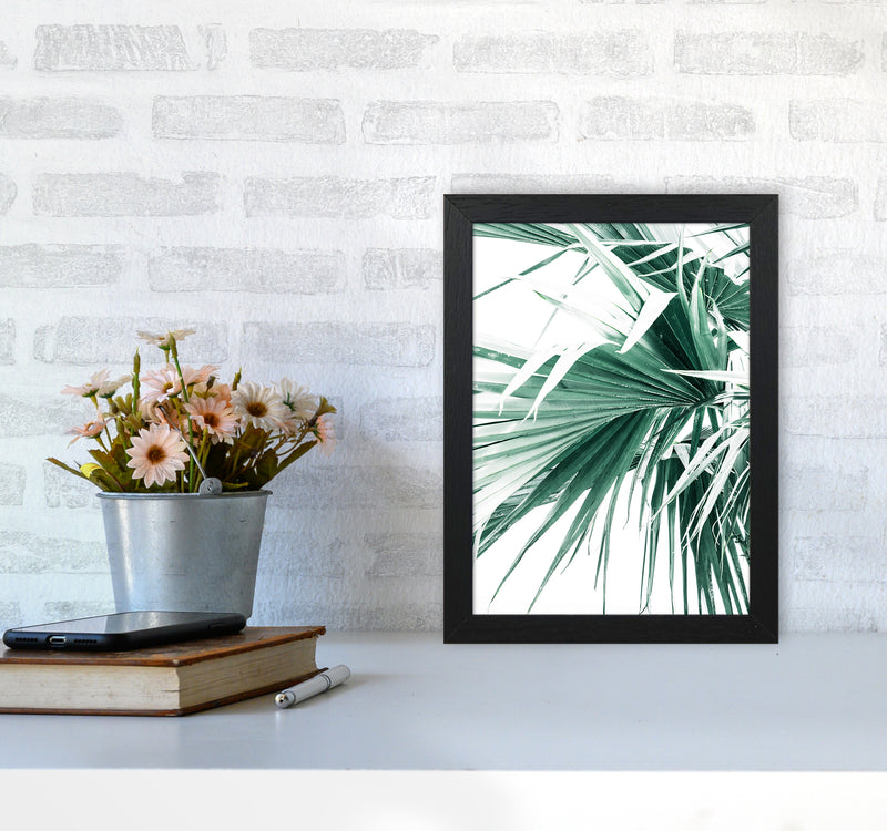 Palm Leaves Photography Print by Victoria Frost A4 White Frame