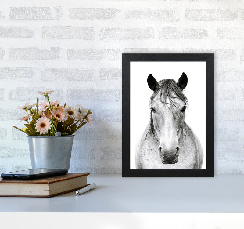 Horse I Photography Print by Victoria Frost A4 White Frame