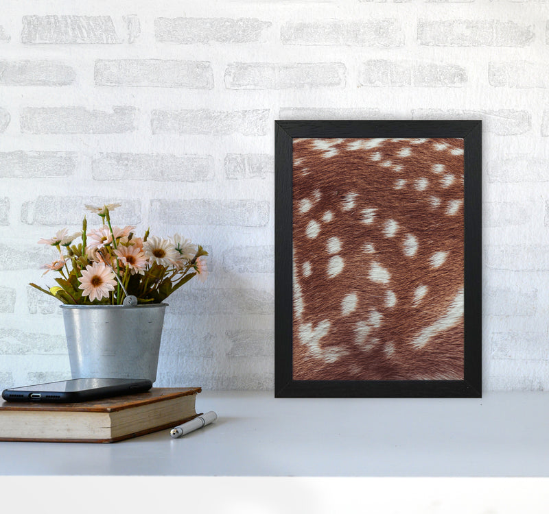 Deer skin Photography Print by Victoria Frost A4 White Frame