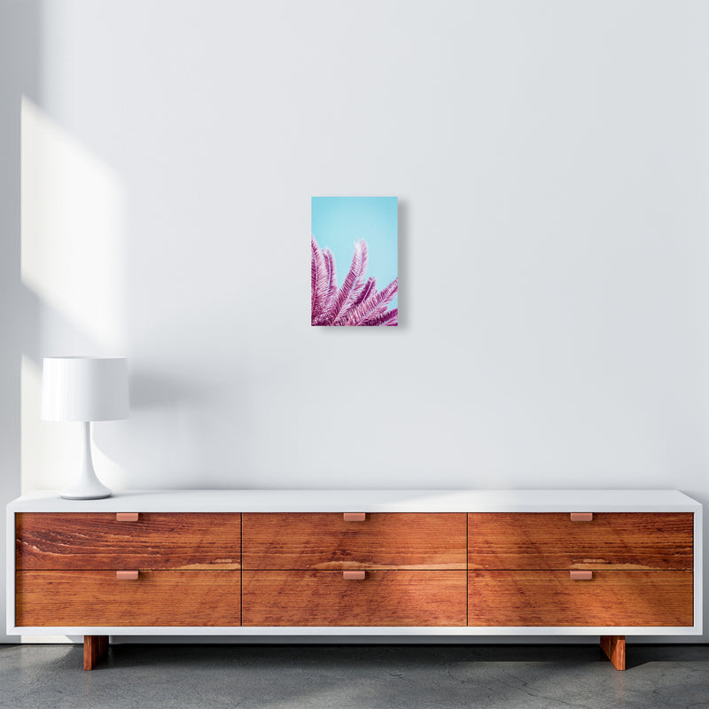 Pink Palm Trees Photography Print by Victoria Frost A4 Canvas