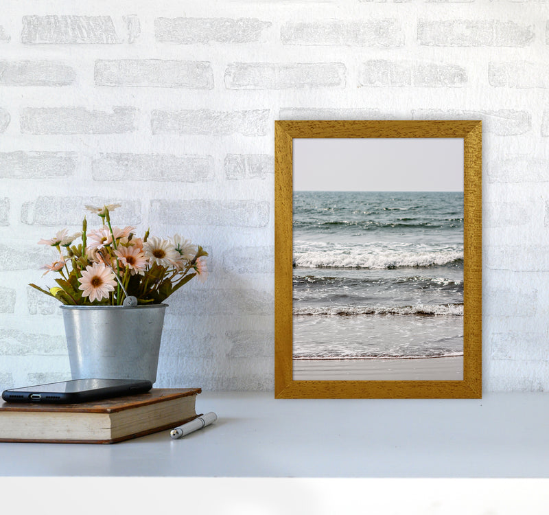 Blue Beach Waves Photography Print by Victoria Frost A4 Print Only