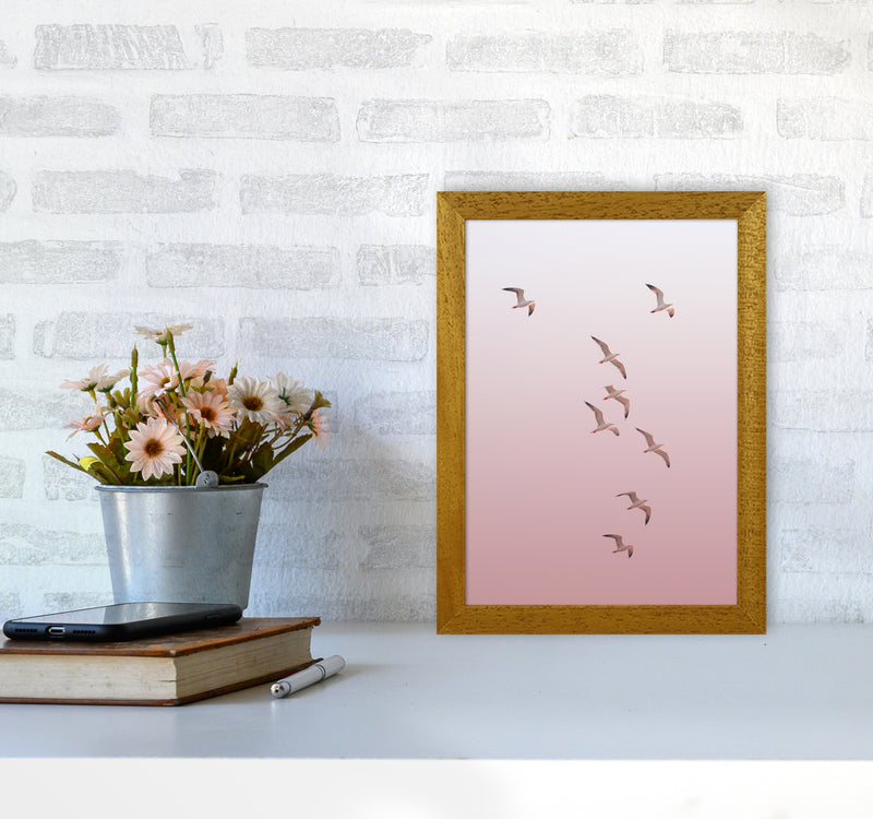 Birds in the Sky-pink Photography Print by Victoria Frost A4 Print Only