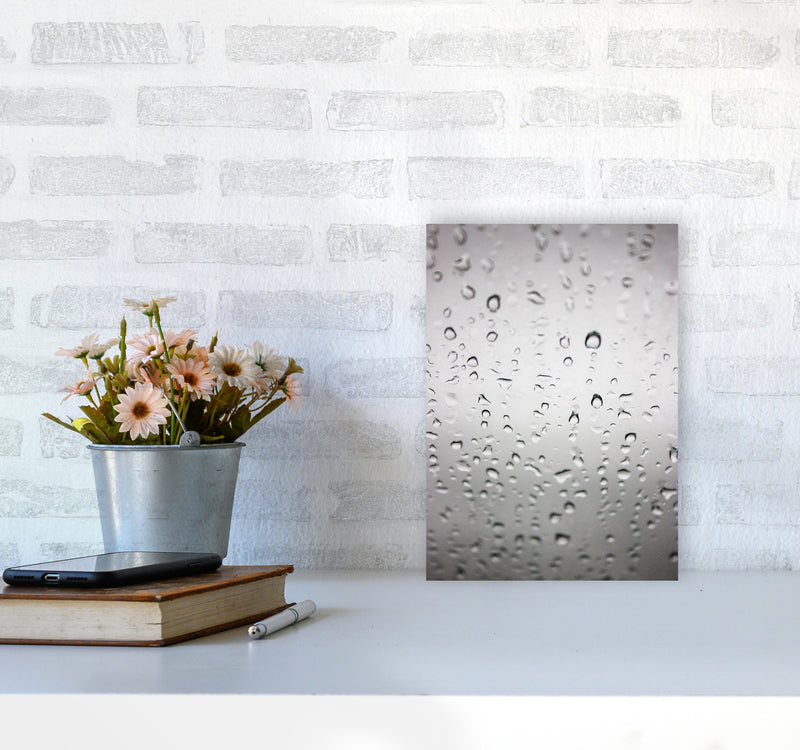 Touch of Rain Photography Print by Victoria Frost A4 Black Frame