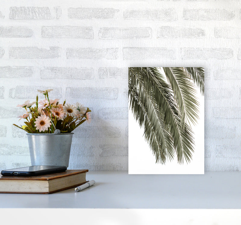Palms Photography Print by Victoria Frost A4 Black Frame