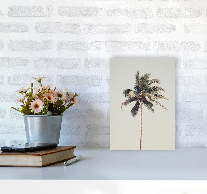 Palm tree by the beach Photography Print by Victoria Frost A4 Black Frame
