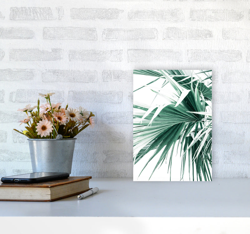 Palm Leaves Photography Print by Victoria Frost A4 Black Frame