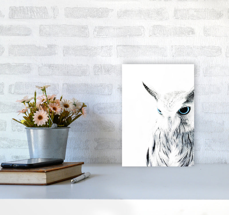 Owl I Photography Print by Victoria Frost A4 Black Frame
