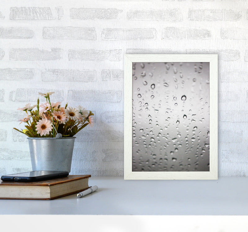 Touch of Rain Photography Print by Victoria Frost A4 Oak Frame