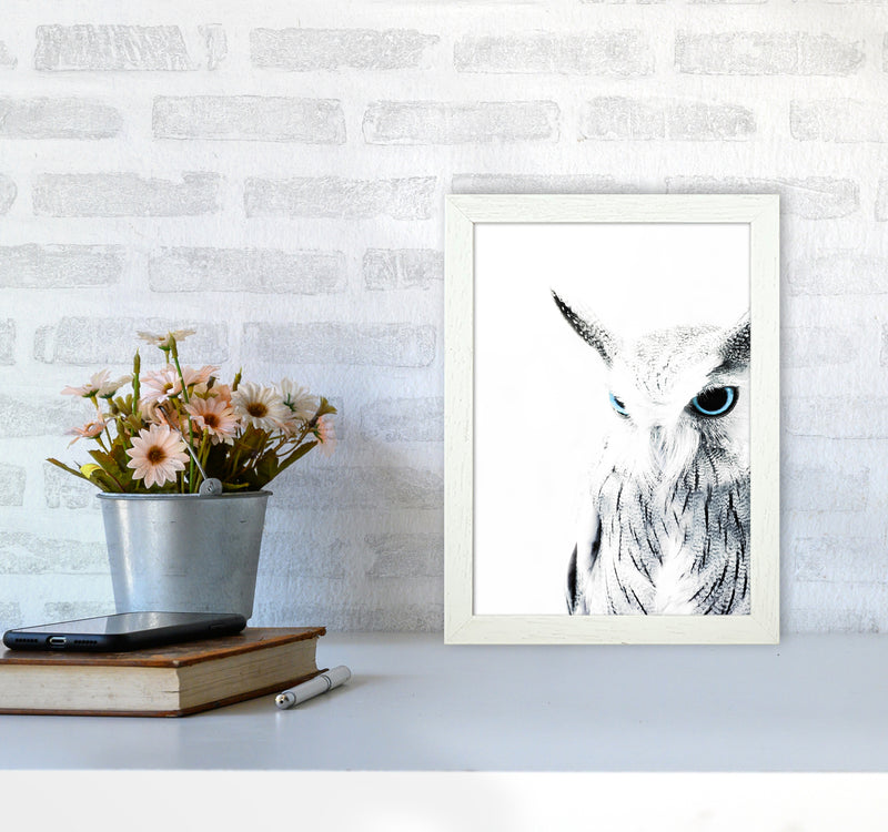 Owl I Photography Print by Victoria Frost A4 Oak Frame