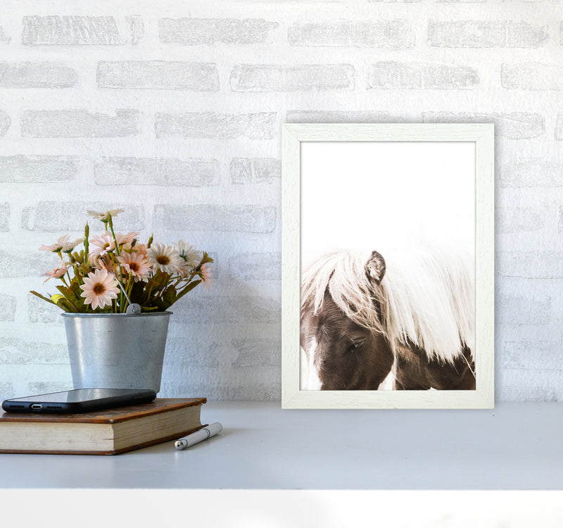 Horse III Photography Print by Victoria Frost A4 Oak Frame