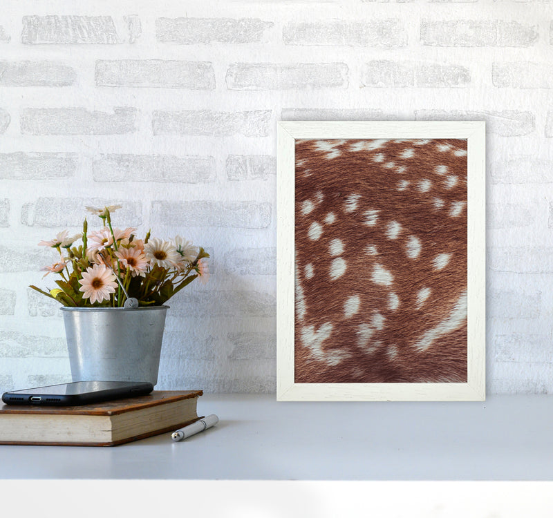Deer skin Photography Print by Victoria Frost A4 Oak Frame