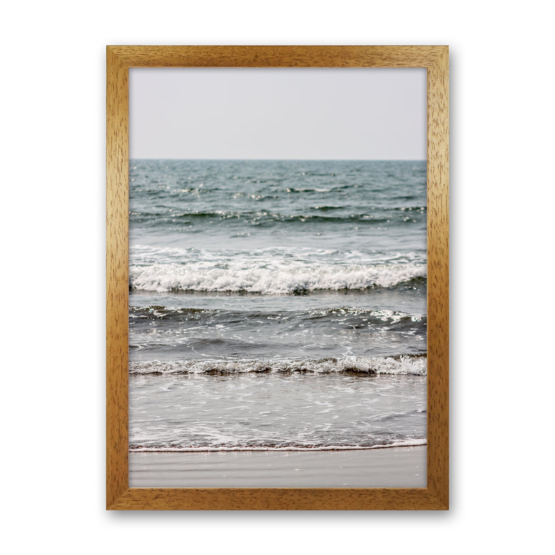 Blue Beach Waves Photography Print by Victoria Frost Oak Grain
