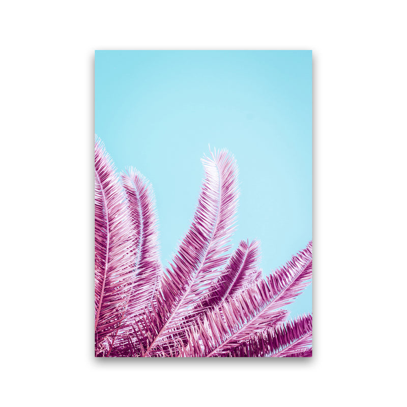Pink Palm Trees Photography Print by Victoria Frost Print Only