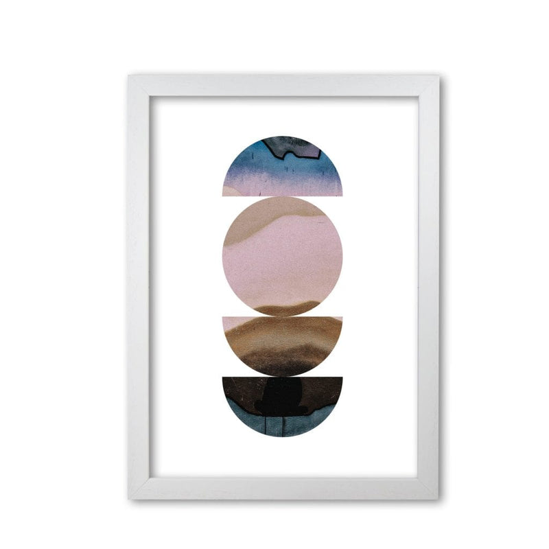 Abstract circles white background modern fine art print