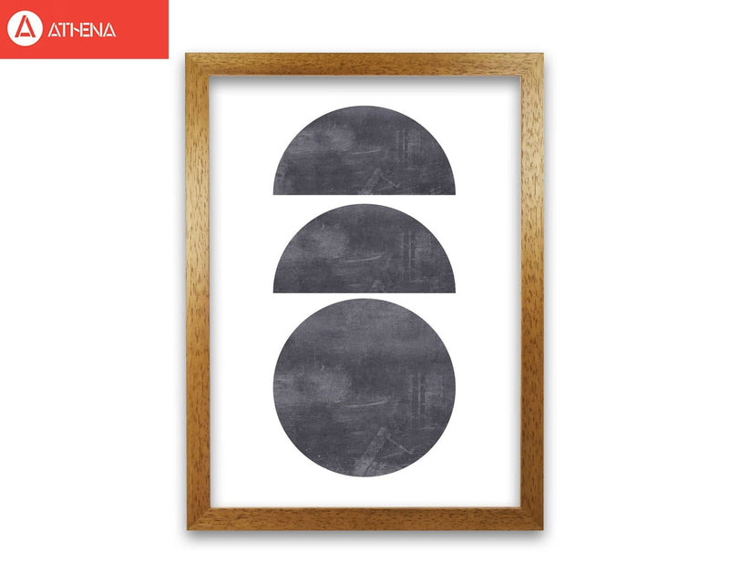 Abstract scratched texture circles modern fine art print