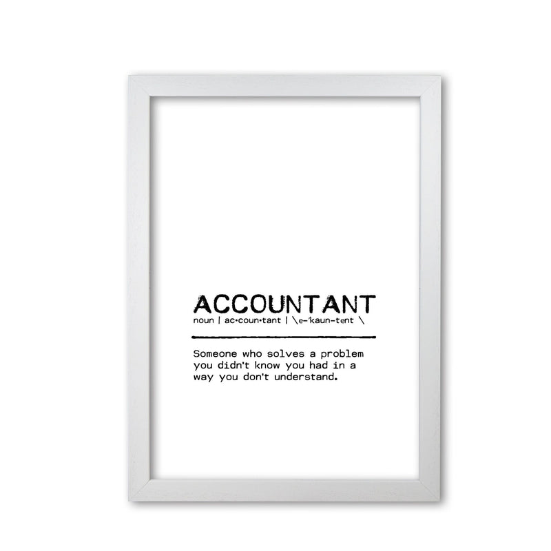 Accountant solves definition quote fine art print by orara studio