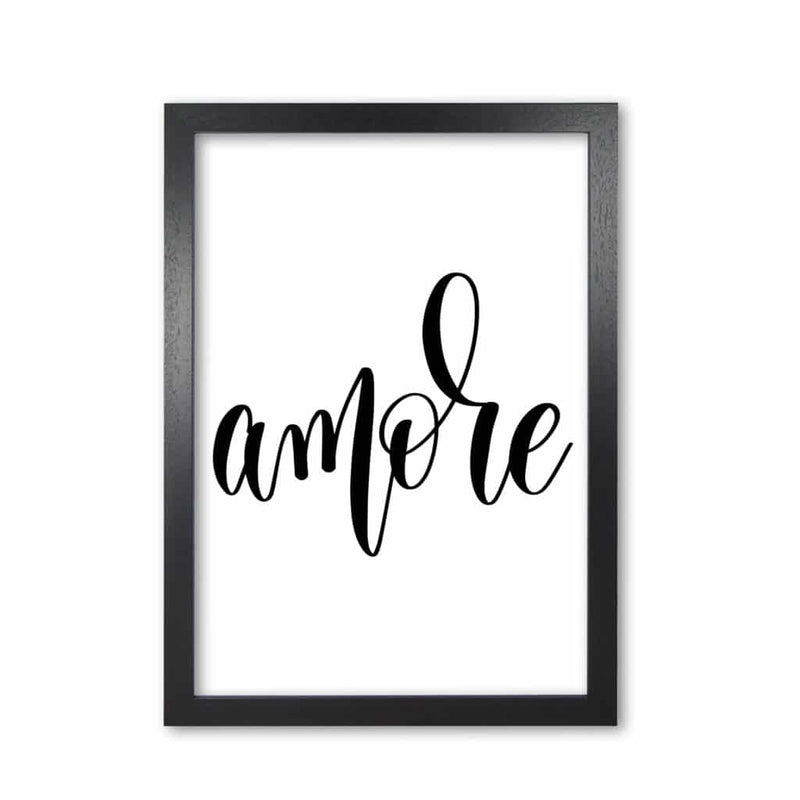 Amore modern fine art print, framed typography wall art