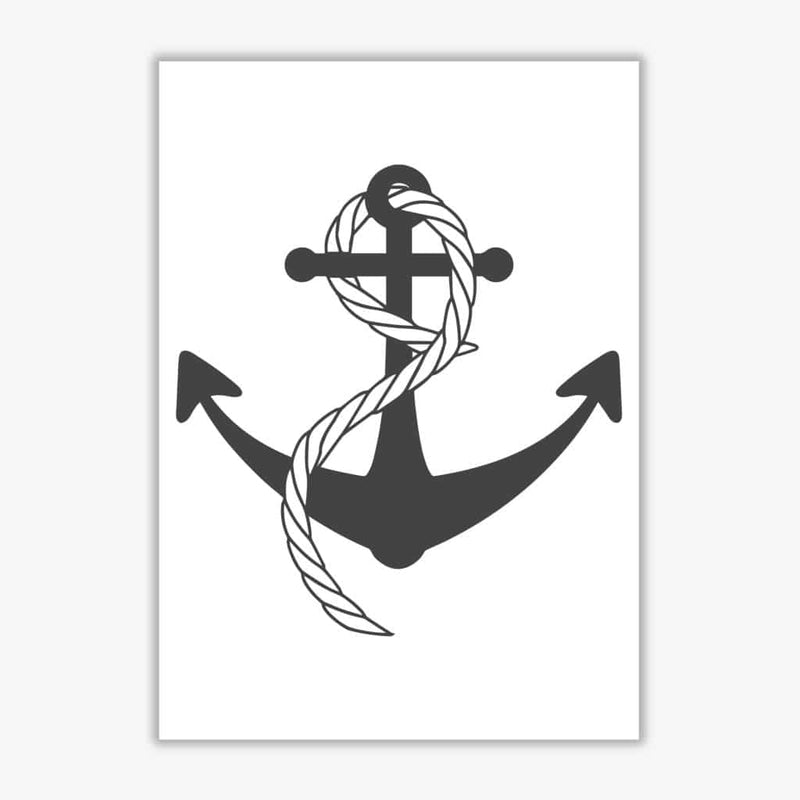 Anchor and rope modern fine art print