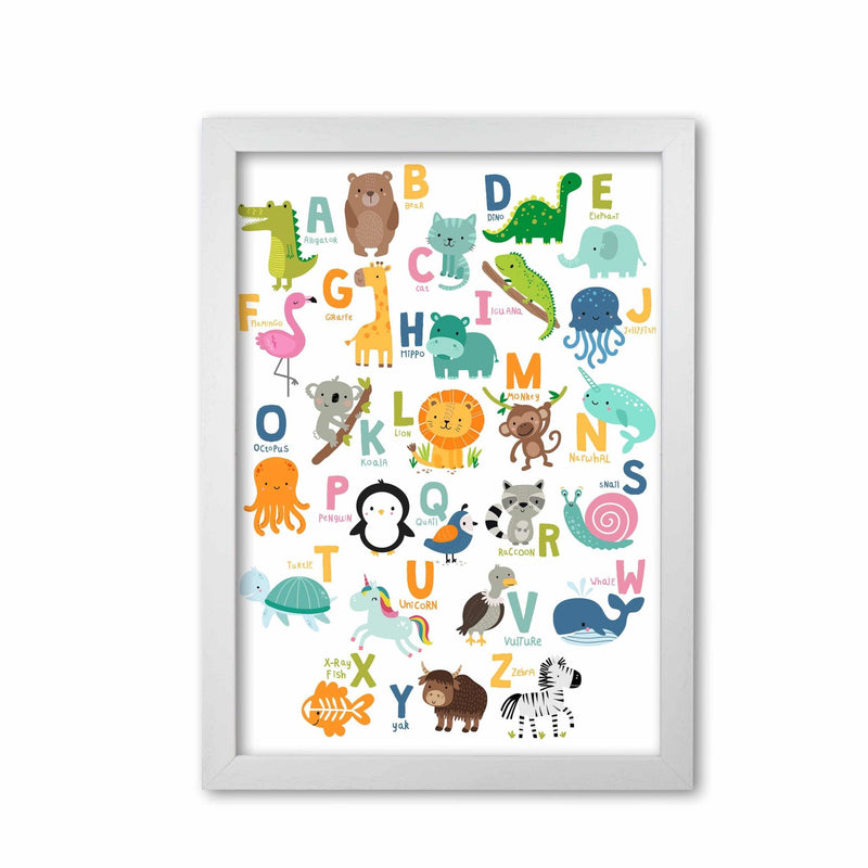 Animal alphabet modern fine art print
