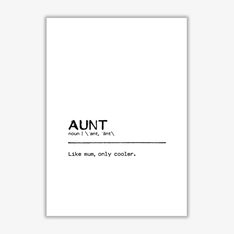 Aunt cool definition quote fine art print by orara studio