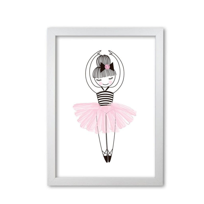 Ballerina modern fine art print, framed childrens nursey wall art poster