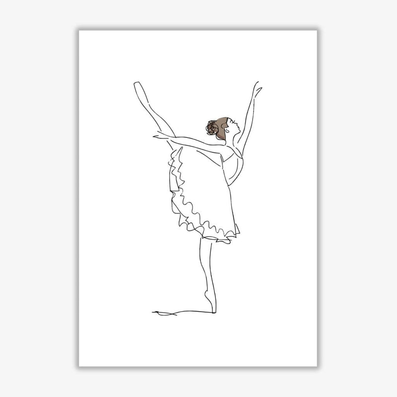 Ballet dancer line drawing modern fine art print