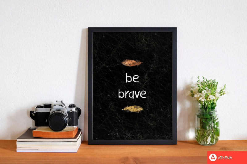 Be brave baby quote fine art print by orara studio