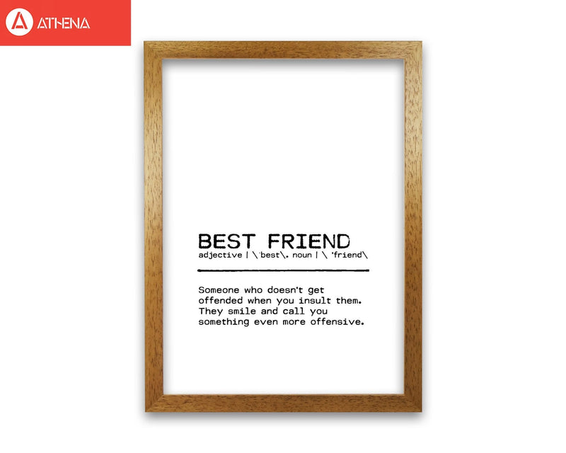 Best friend offend definition quote fine art print by orara studio