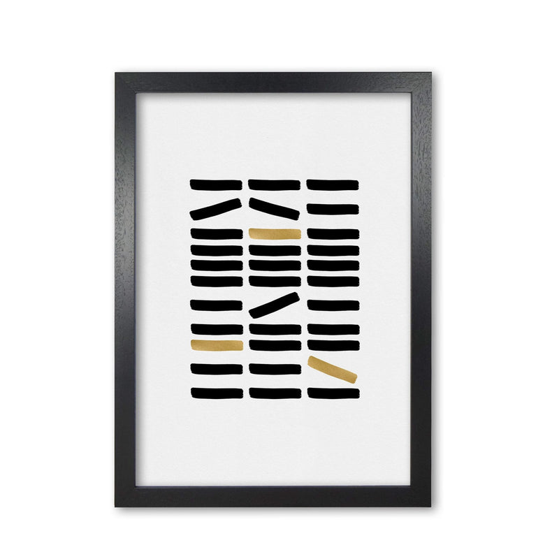 Black and gold abstract fine art print by orara studio