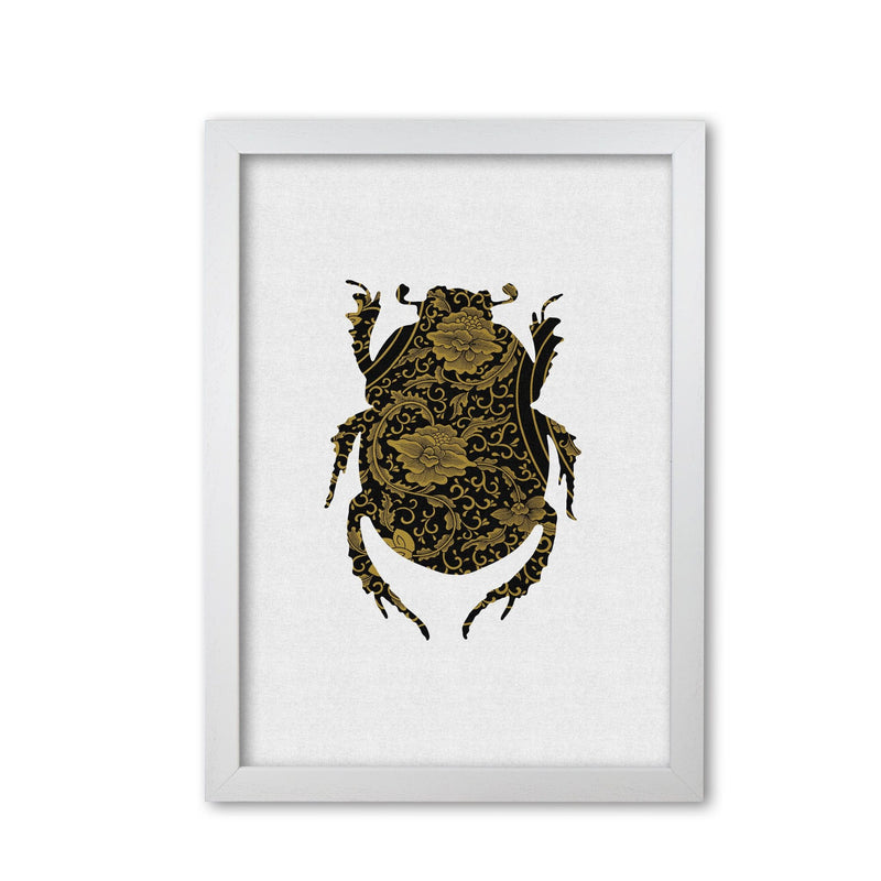 Black and gold beetle i fine art print by orara studio