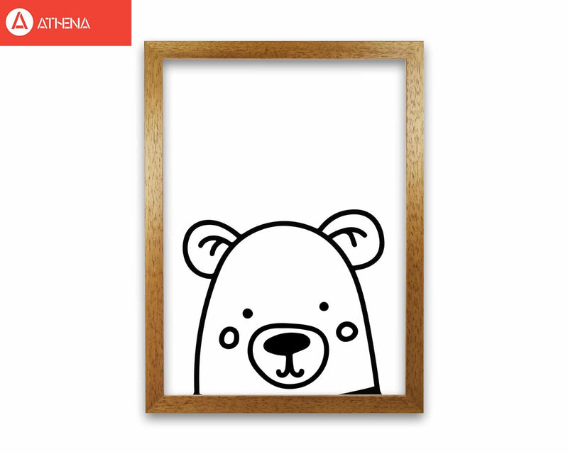 Black and white bear modern fine art print
