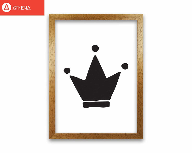 Black crown modern fine art print