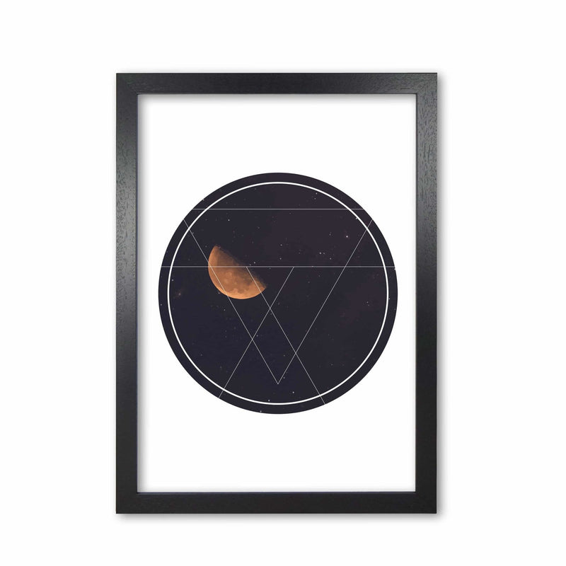 Black moon circle modern fine art print