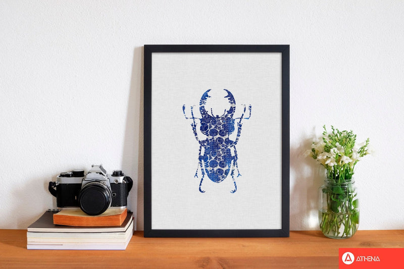 Blue beetle iii fine art print by orara studio