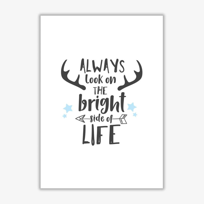 Bright side of life modern fine art print, framed typography wall art