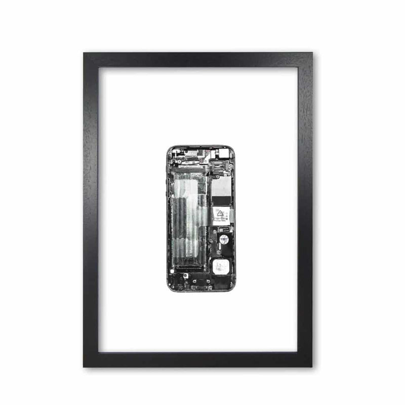Broken iphone modern fine art print