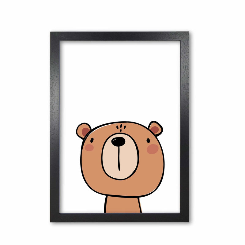 Brown bear modern fine art print