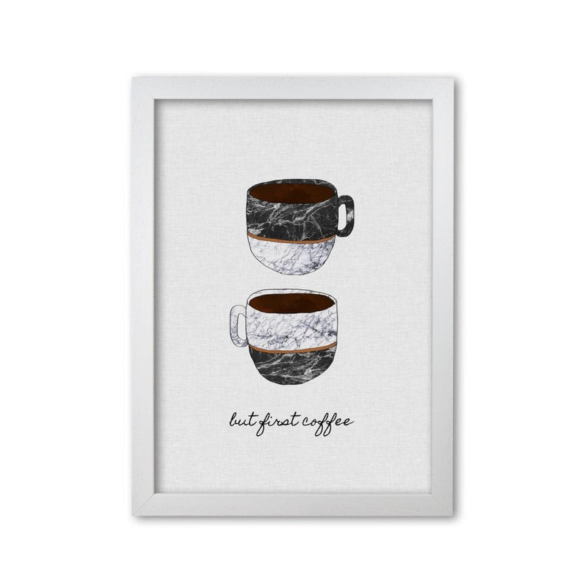 But first coffee ii fine art print by orara studio, framed kitchen wall art