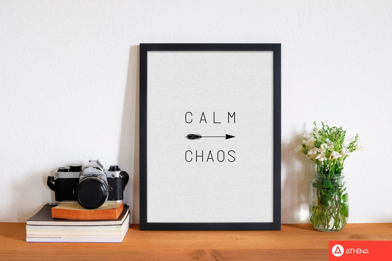 Calm chaos arrow quote fine art print by orara studio