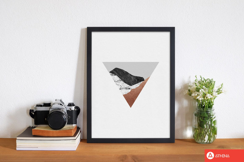 Copper geometric ii fine art print by orara studio