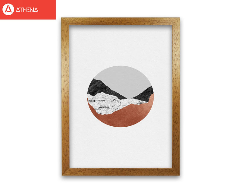 Copper geometric iii fine art print by orara studio