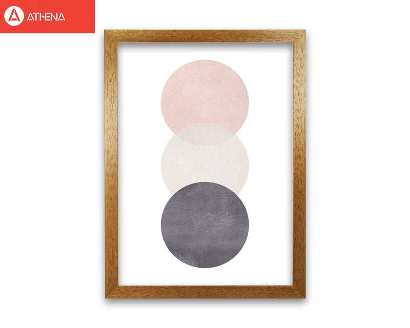 Cotton, pink and grey abstract circles modern fine art print