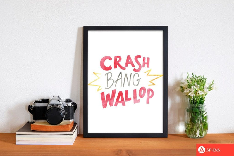 Crash bang wallop watercolour modern fine art print