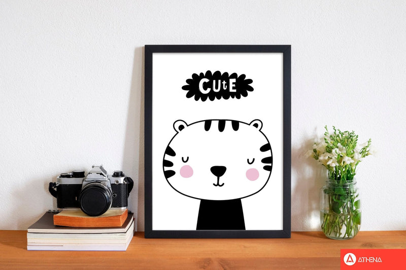 Cute scandi tiger modern fine art print