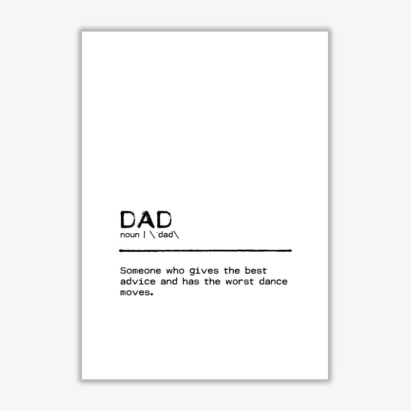 Dad best definition quote fine art print by orara studio